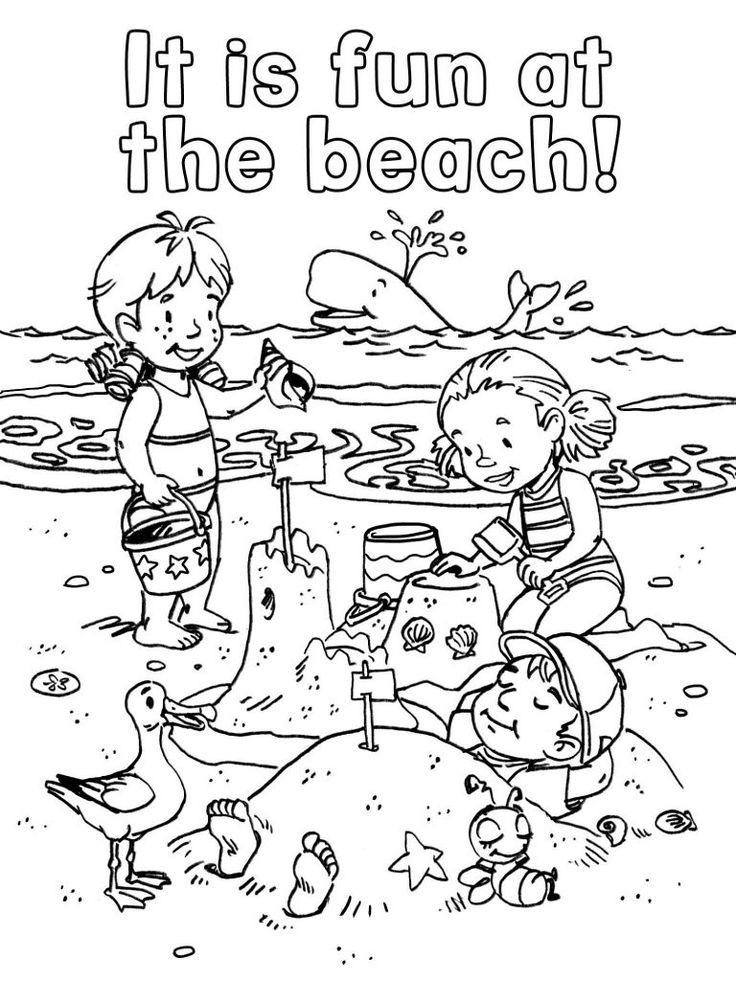 funny summer coloring pages printable coloring pages of kids at the beach coloring home pages summer coloring funny