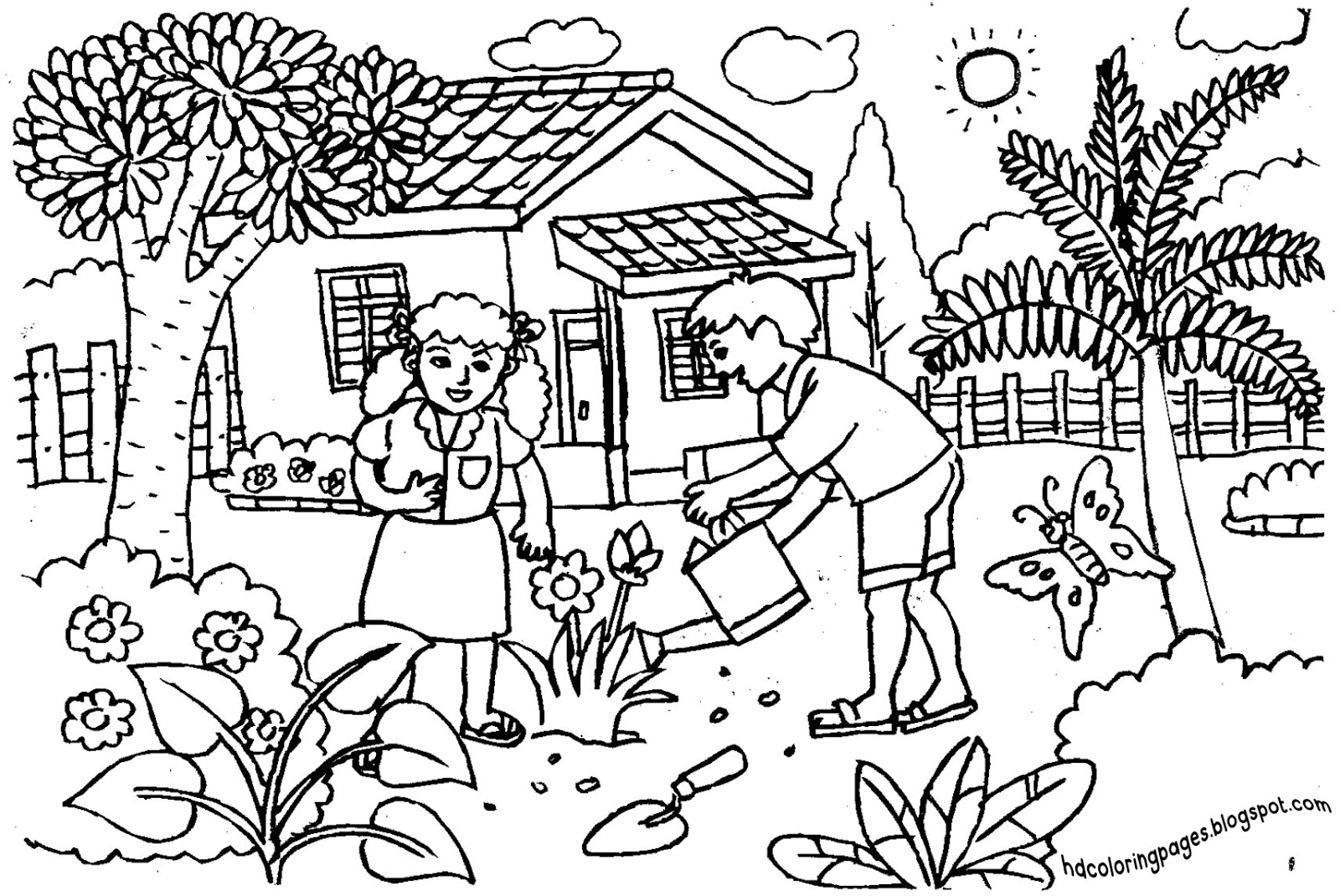 garden coloring sheets flower garden coloring pages to download and print for free coloring garden sheets