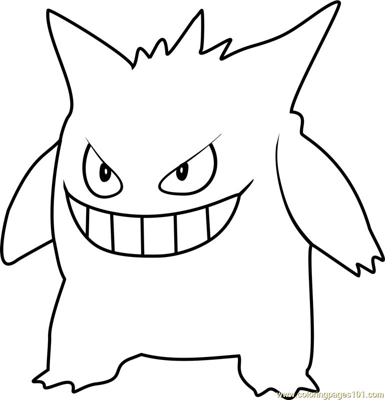 gengar pokemon coloring page gengar coloring pages download and print for free coloring gengar page pokemon