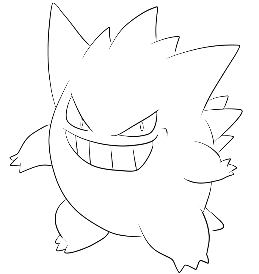 gengar pokemon coloring page gengar pokemon red blue and yellow coloring lesson kids coloring page gengar pokemon