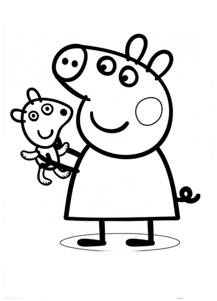 george pig colouring coloring pages for kids free images peppa pig and george george colouring pig