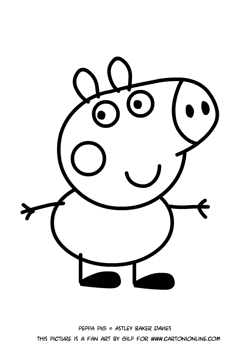 george pig colouring george pig coloring pages for kids george colouring pig