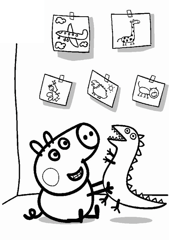 george pig colouring george pig coloring pages for kids pig colouring george