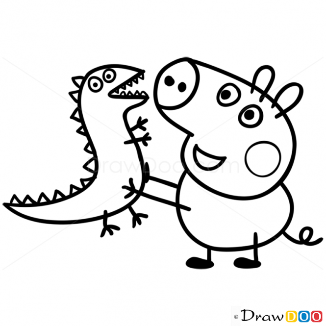 george pig colouring how to draw george 2 peppa pig george pig colouring