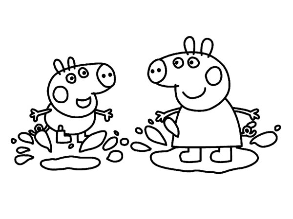 george pig colouring mud free coloring pages colouring george pig