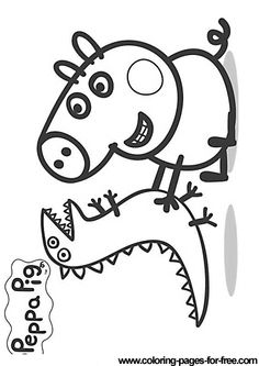 george pig colouring peppa pig and george coloring page for children kizi pig george colouring