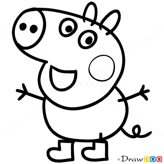george pig colouring peppa pig sketch at paintingvalleycom explore pig george colouring