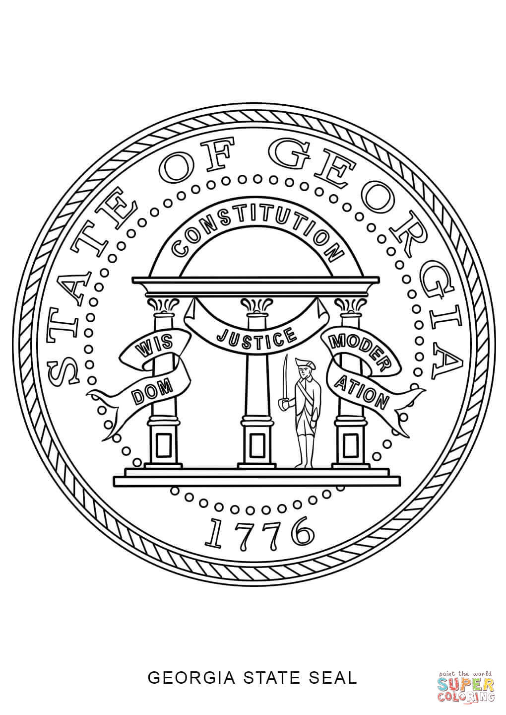 georgia map coloring page georgia state seal coloring page free printable coloring georgia coloring page map