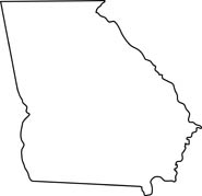 georgia map coloring page map of ga clipart clipground map coloring georgia page