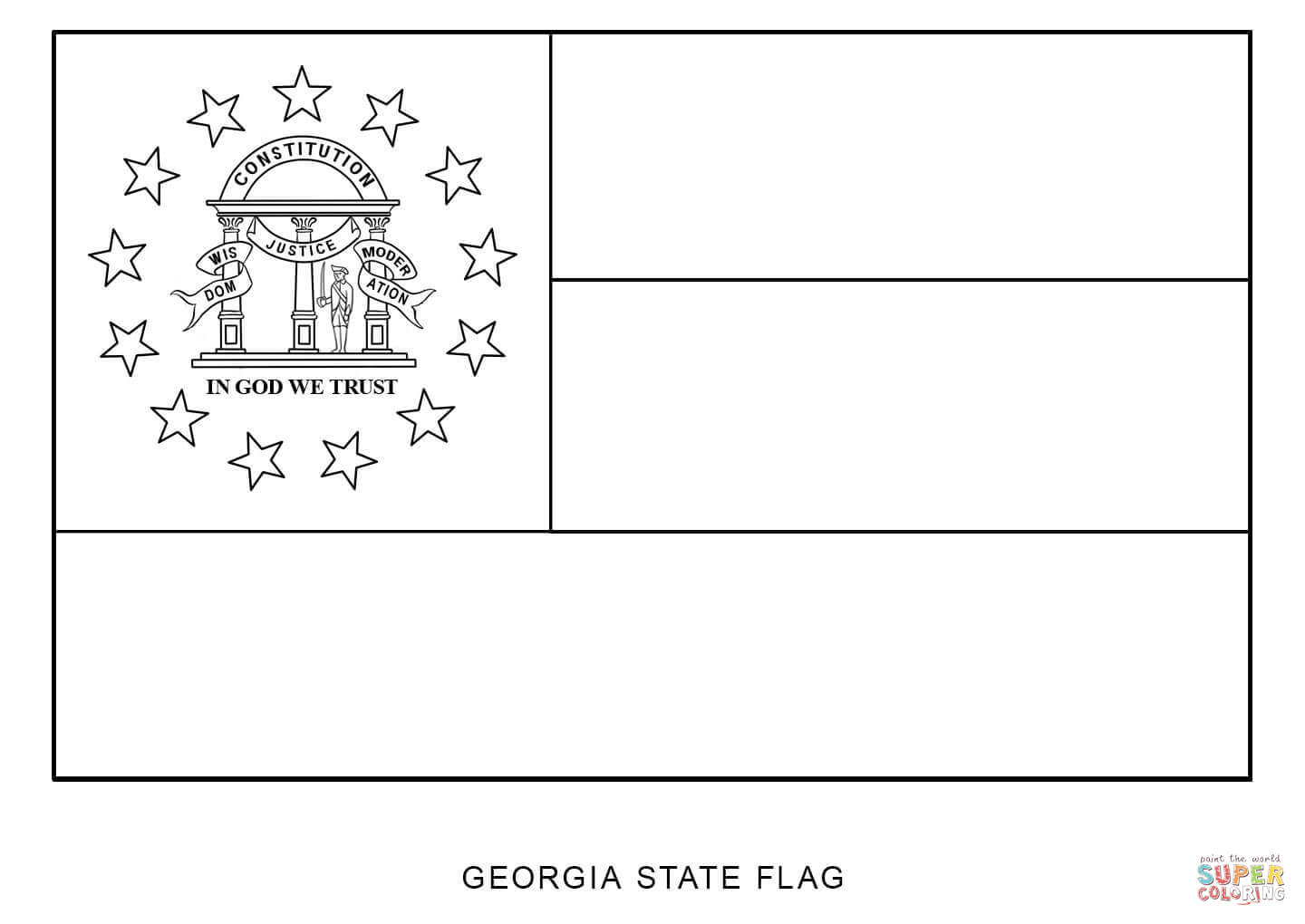 georgia map coloring page state flag of georgia coloring page free printable coloring map page georgia
