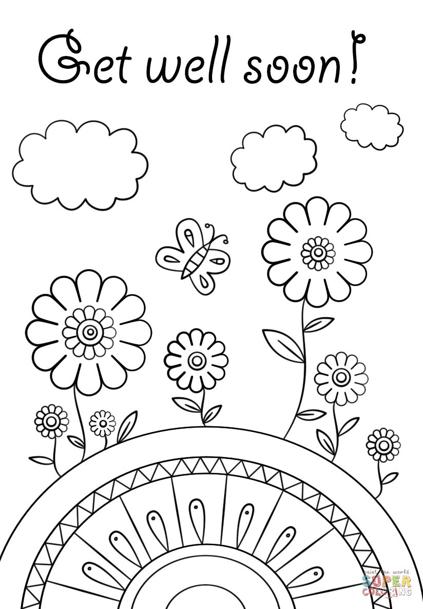 get well soon printable coloring cards 24 comforting printable get well cards kittybabylovecom coloring soon printable get cards well