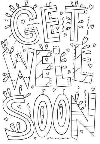 get well soon printable coloring cards get well soon coloring pages get coloring cards soon printable well