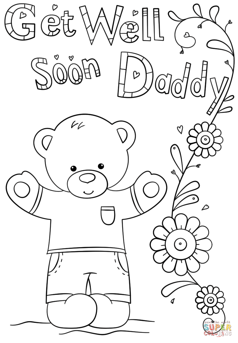 get well soon printable coloring cards get well soon coloring pages to download and print for free cards well printable coloring get soon