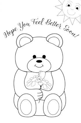 get well soon printable coloring cards get well soon colouring pages wwwfree for kidscom get coloring soon cards well printable