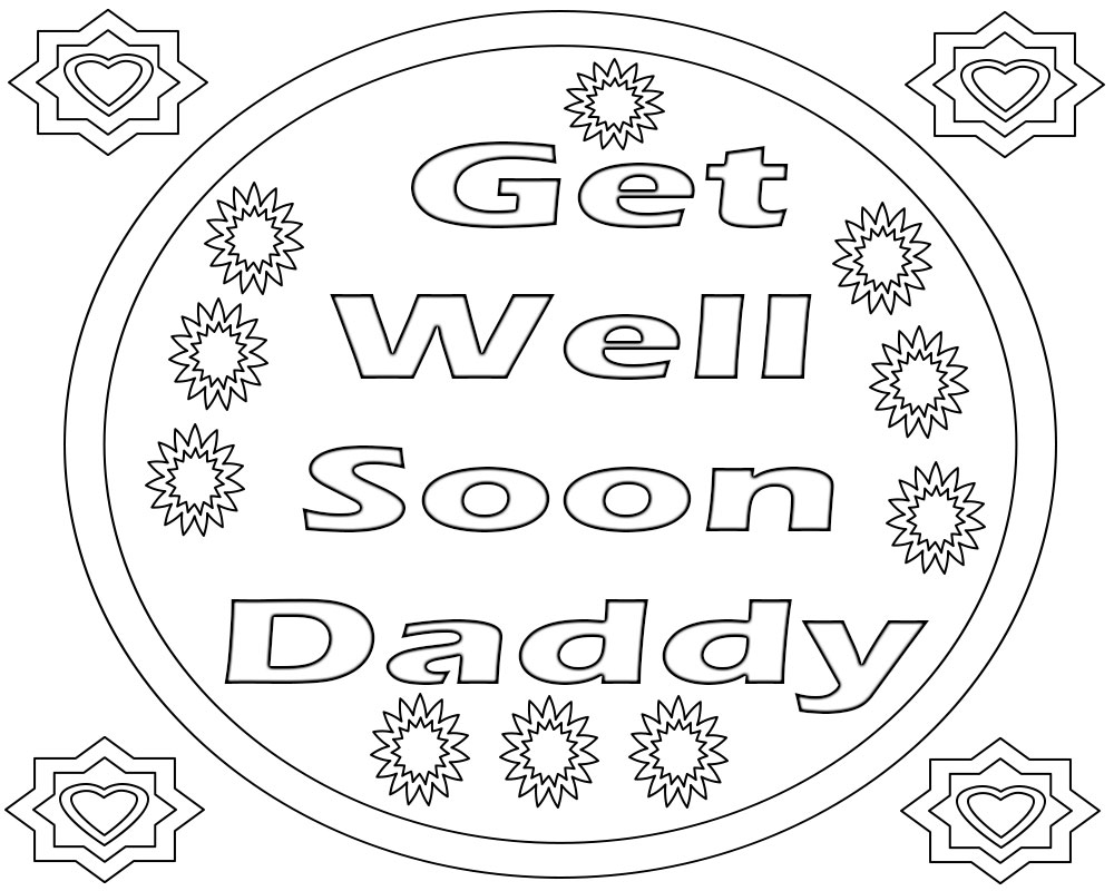get well soon printable coloring cards get well soon doodle coloring page free printable cards coloring get well printable soon