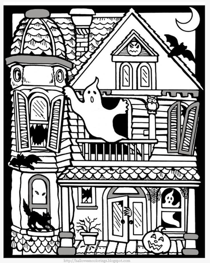 ghost house coloring page free printable haunted house coloring pages for kids ghost coloring page house