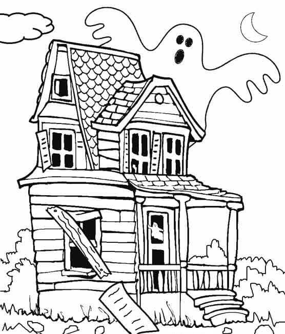 ghost house coloring page ghost house coloring page page house ghost coloring