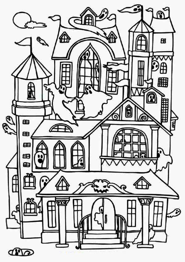ghost house coloring page haunted house coloring pages coloring pages to download house coloring ghost page