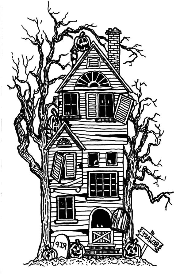 ghost house coloring page haunted house coloring pages printables at getcolorings coloring house page ghost