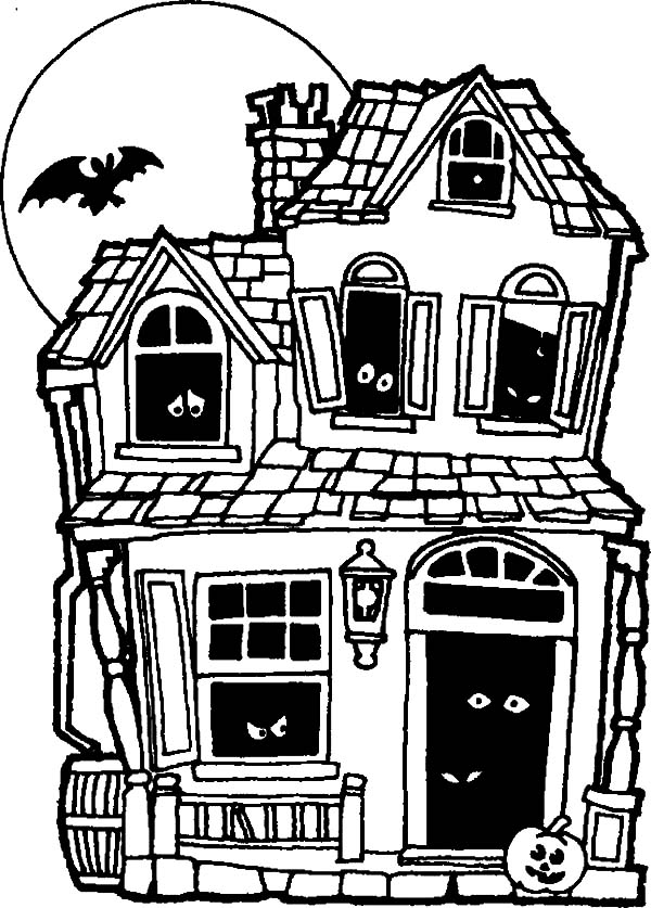 ghost house coloring page spooky haunted house photo by jon seidman coloring page house ghost coloring page