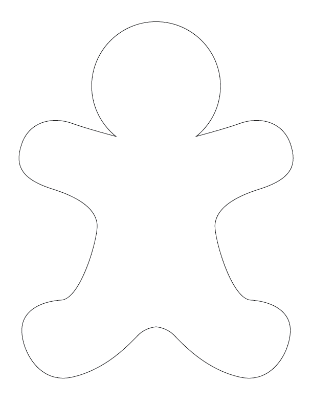 gingerbread man outline gingerbread man templates gift of curiosity outline man gingerbread