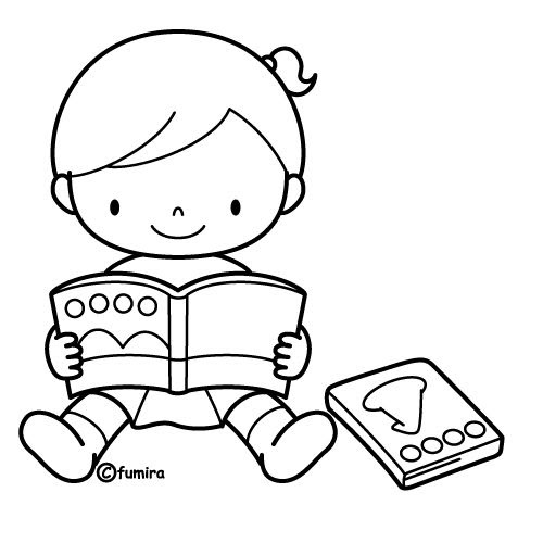 girl reading coloring page best children reading a book coloring book page coloring reading girl page