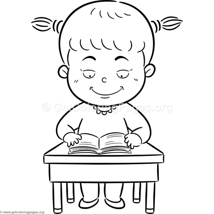 girl reading coloring page children reading clip art black and white 20 free cliparts coloring girl page reading