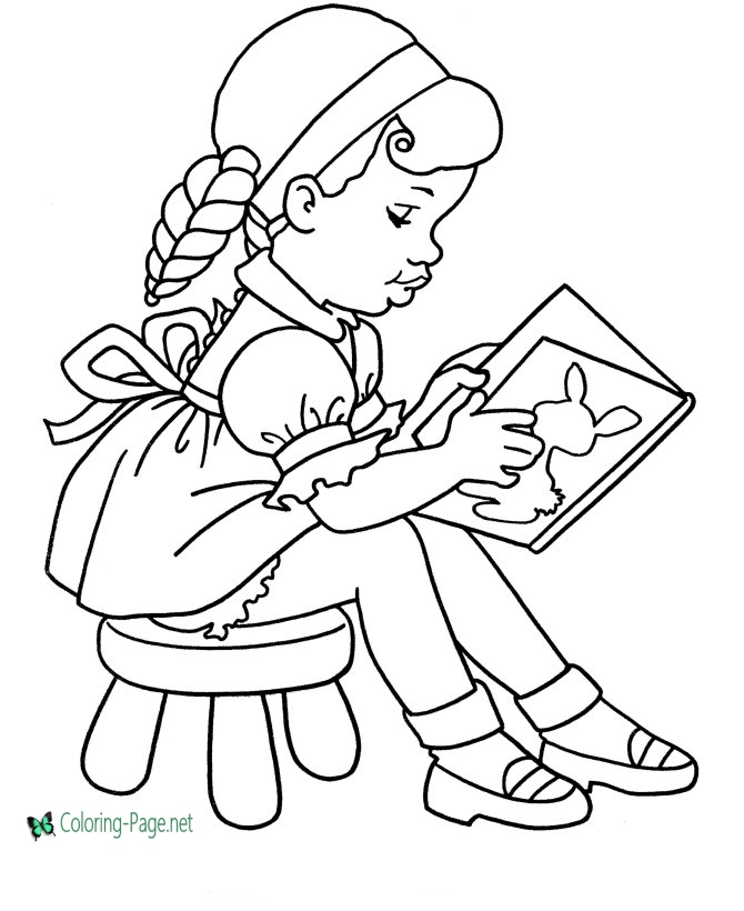 girl reading coloring page clip art black and white black and white girl walking reading girl page coloring