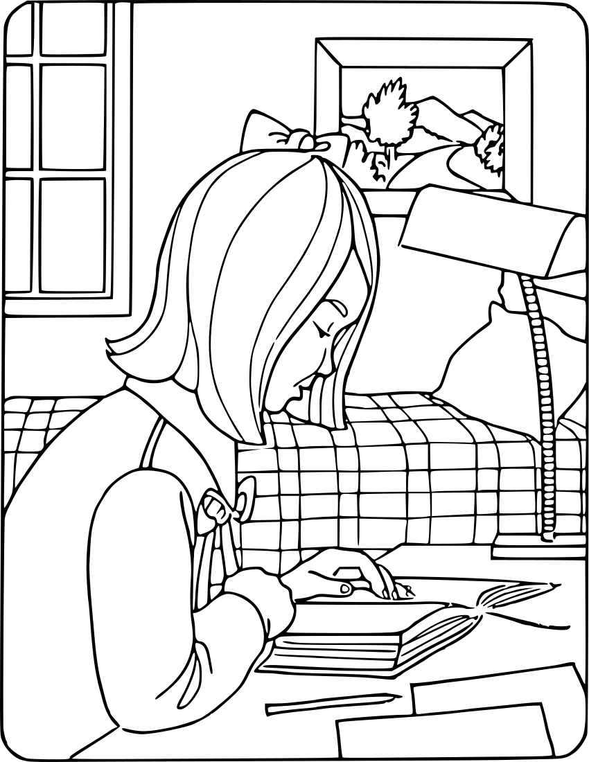 girl reading coloring page free coloring pages girl reading reading page girl coloring