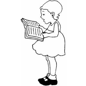 girl reading coloring page free picture of child reading a book download free clip page girl coloring reading