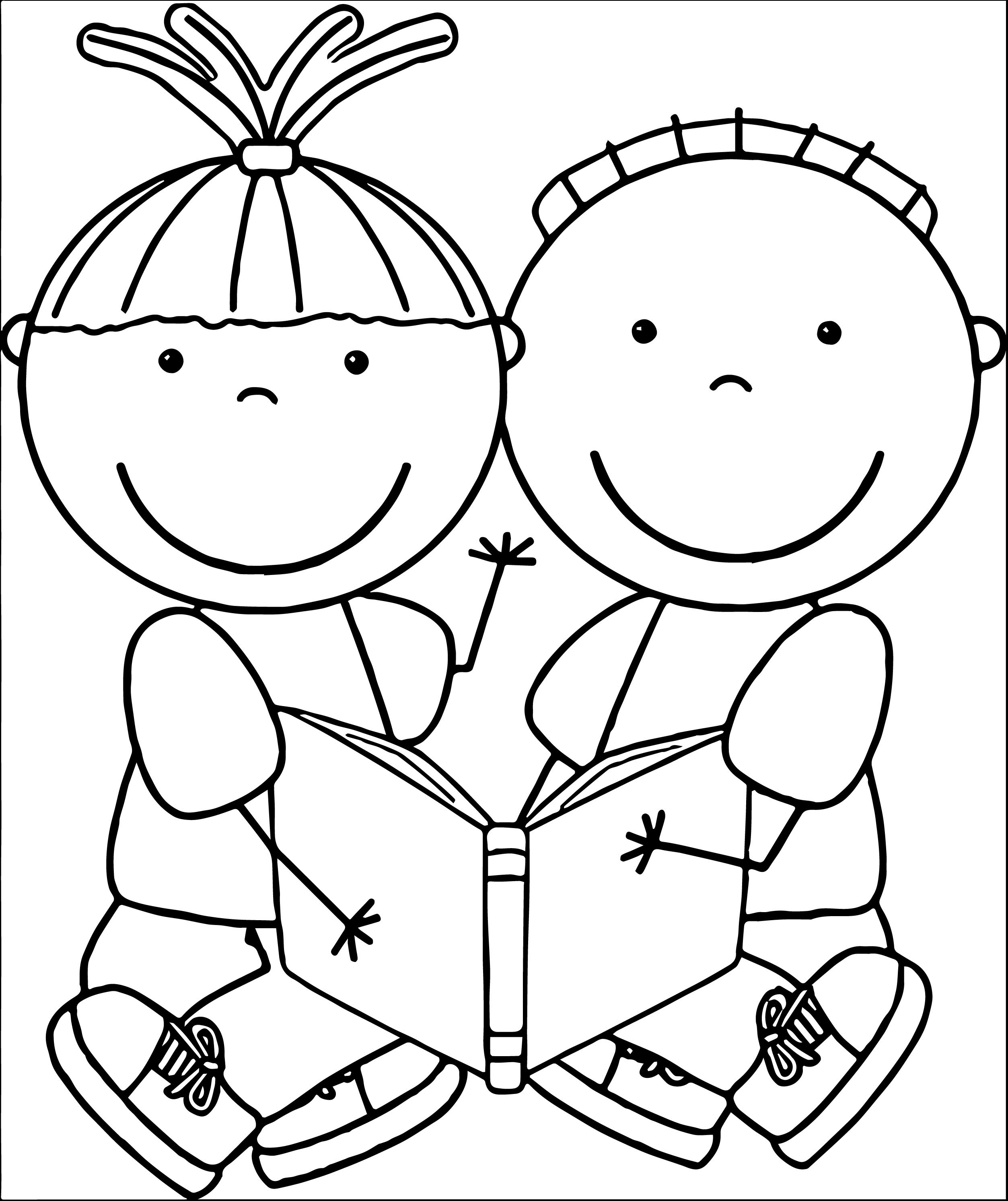 girl reading coloring page girl reading book coloring page coloring reading girl page