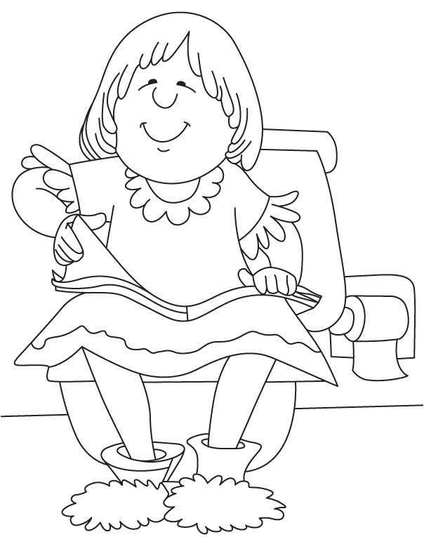 girl reading coloring page girl reading book in chair clipart etc page girl coloring reading