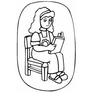 girl reading coloring page girl reading coloring page at getdrawingscom free for girl page coloring reading