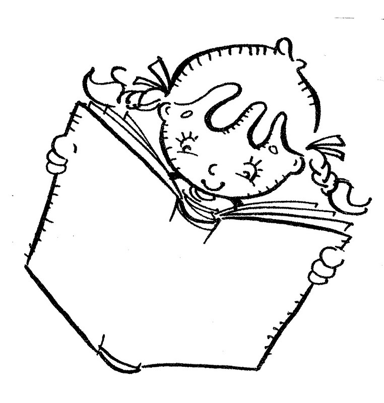 girl reading coloring page girl reading coloring page for kids free printable picture girl reading page coloring