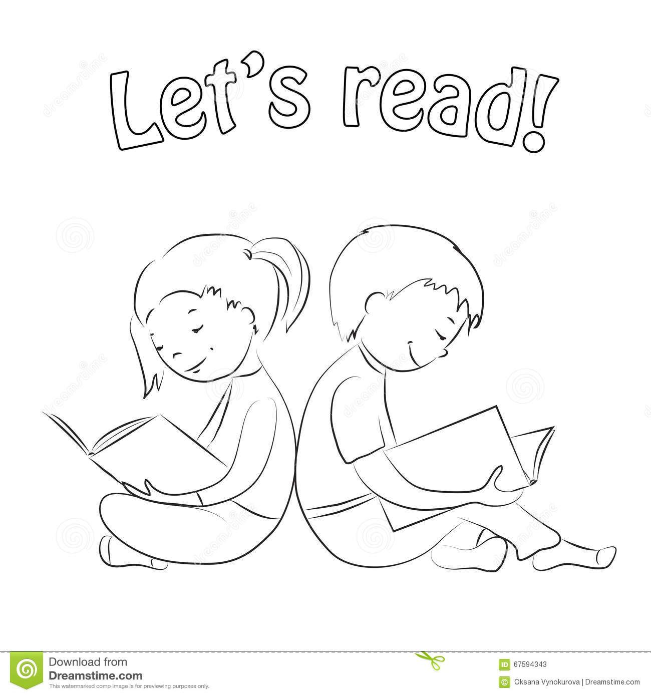 girl reading coloring page girl reading coloring page girl reading coloring page