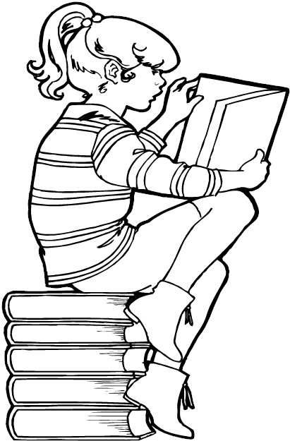 girl reading coloring page girl reading yampuff chibi lineart yampuff39s linearts page coloring girl reading