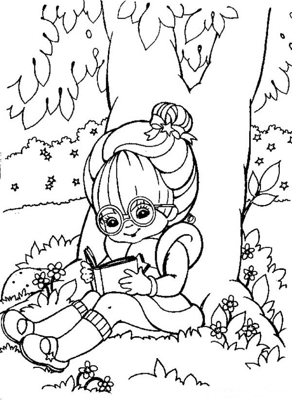 girl reading coloring page kids reading books outline coloring page children sitting page reading coloring girl