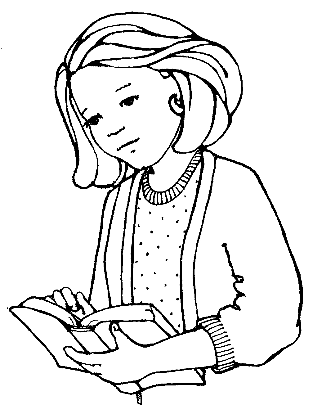 girl reading coloring page pin de catrina sanchez en school projects coloring pages coloring girl page reading