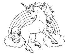 Go away unicorn coloring pages