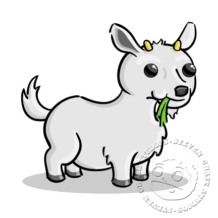 goat picture cartoon cartoon baby goat black and white stock vector insima cartoon picture goat