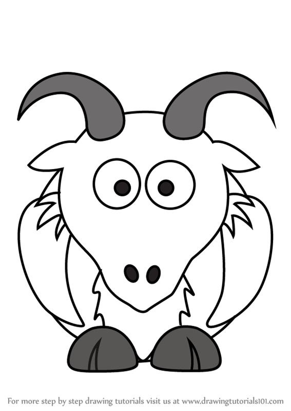 goat picture cartoon how to draw cartoon goats farm animals step by step picture goat cartoon