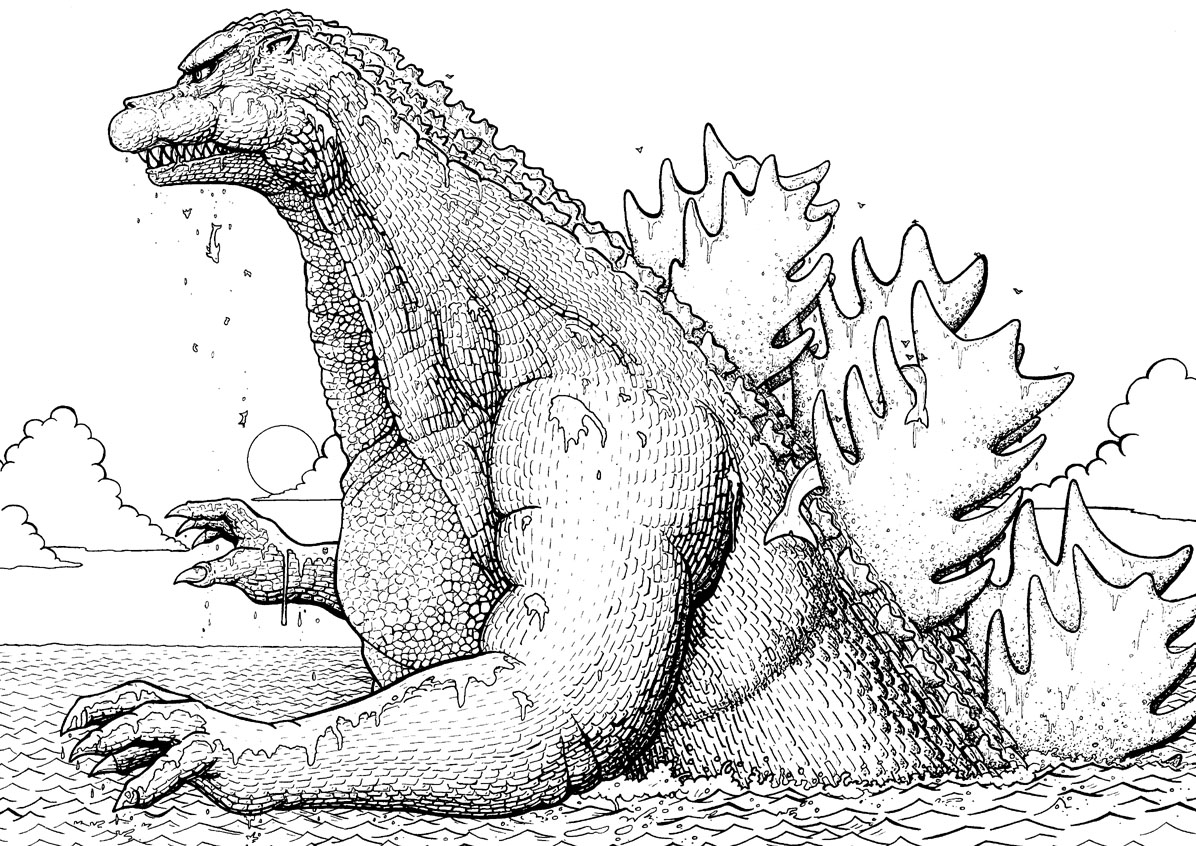 godzilla coloring pictures get this printable image of godzilla coloring pages upiui coloring godzilla pictures