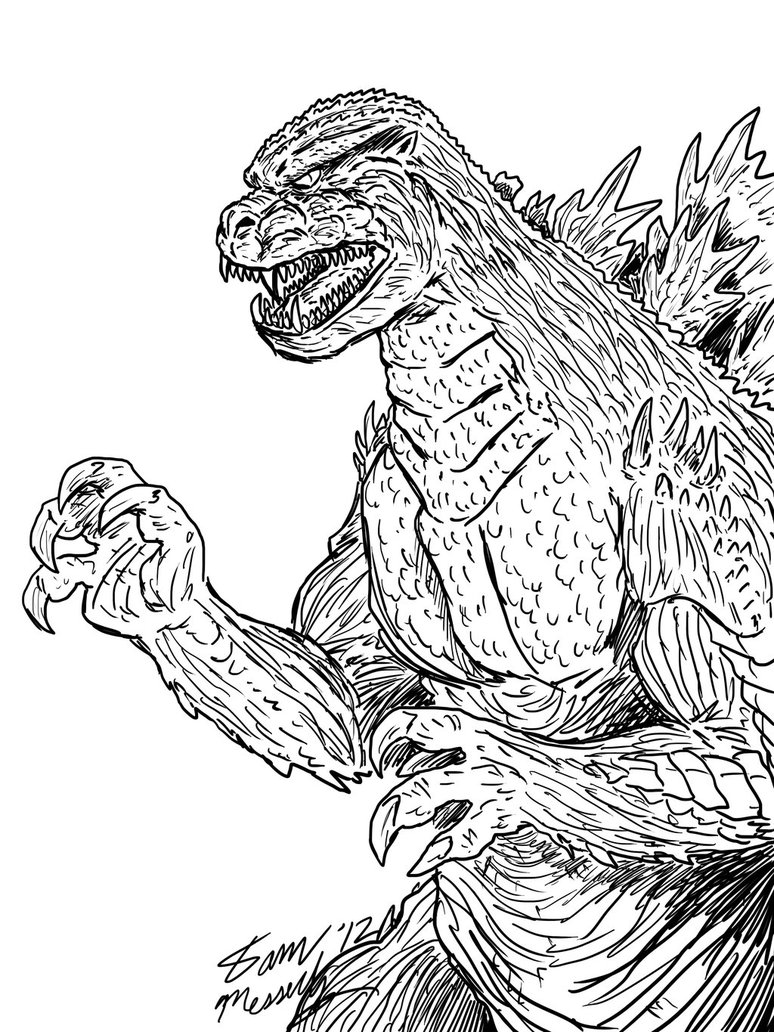 godzilla printable coloring pages godzilla coloring pages to print at getdrawings free pages printable godzilla coloring