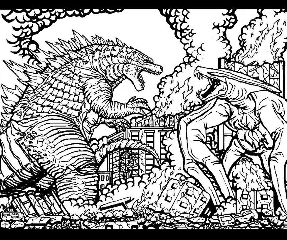 godzilla printable coloring pages printable godzilla coloring pages coloring home coloring godzilla pages printable