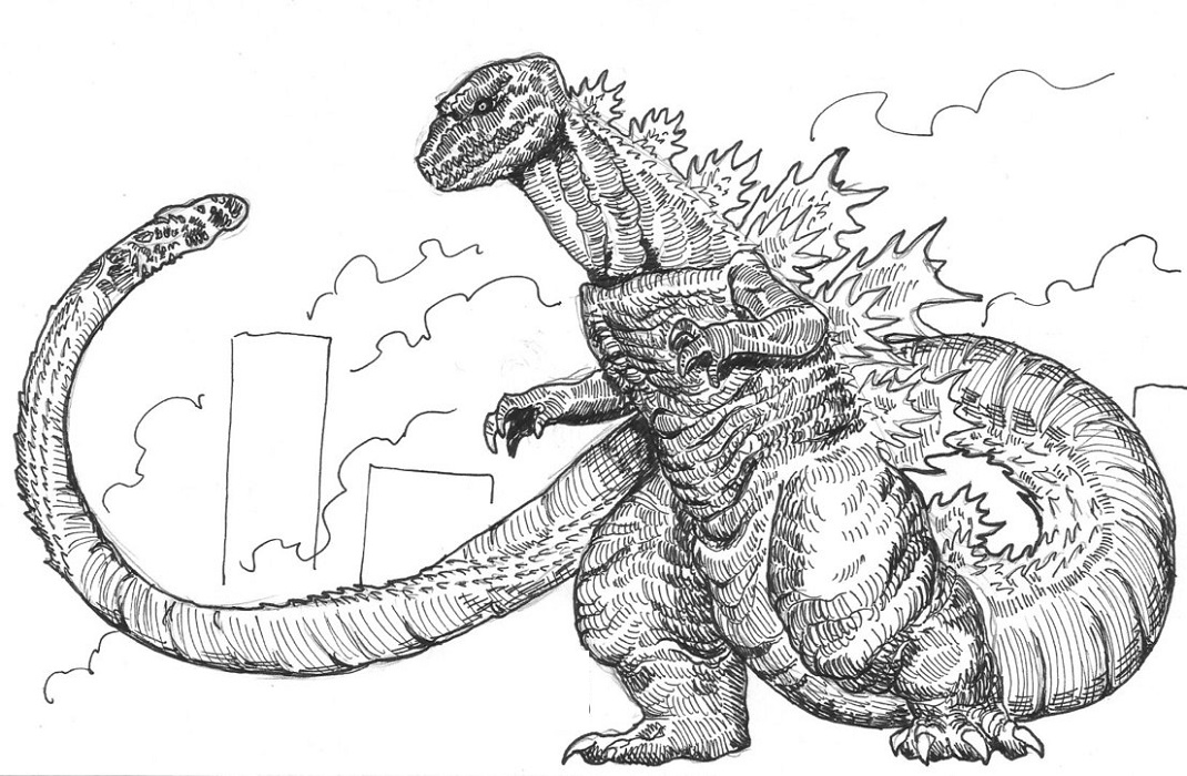 godzilla printable coloring pages space godzilla coloring pages at getdrawings free download pages godzilla coloring printable