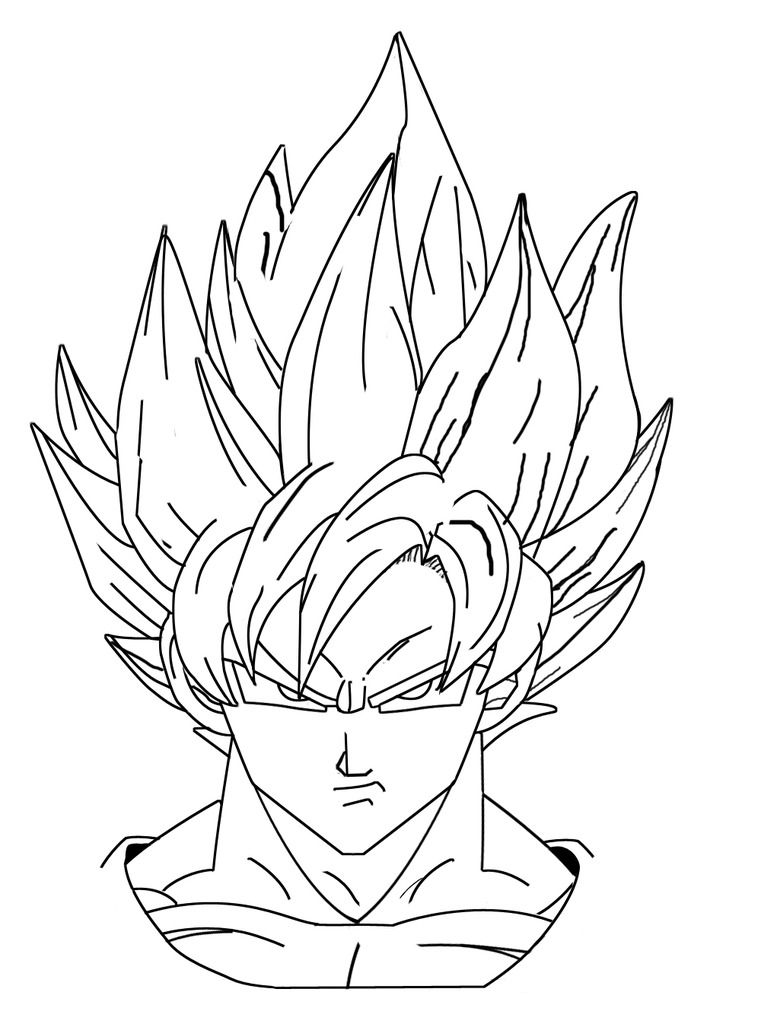 goku face coloring pages dbz coloring pages picture whitesbelfast goku coloring pages face