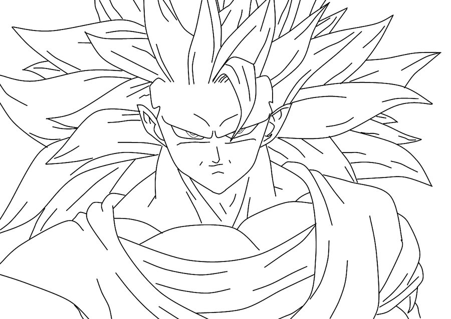 goku face coloring pages dragonball drawing at getdrawings free download goku coloring face pages