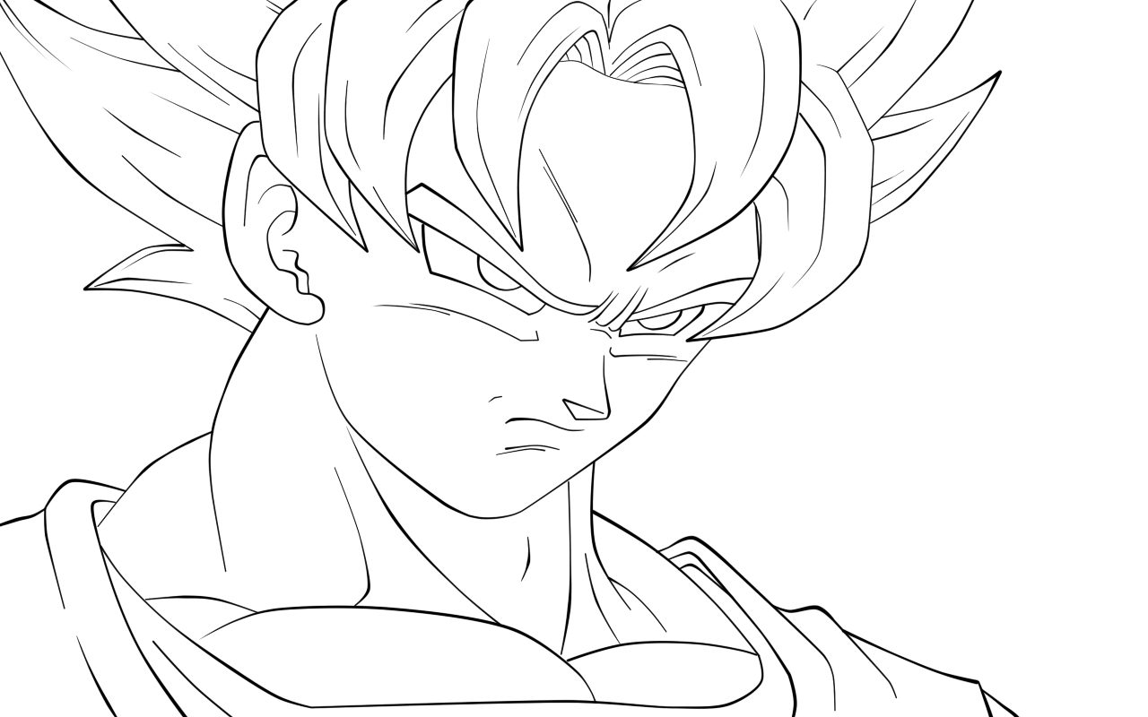 goku face coloring pages goku face drawing free download on clipartmag face goku pages coloring