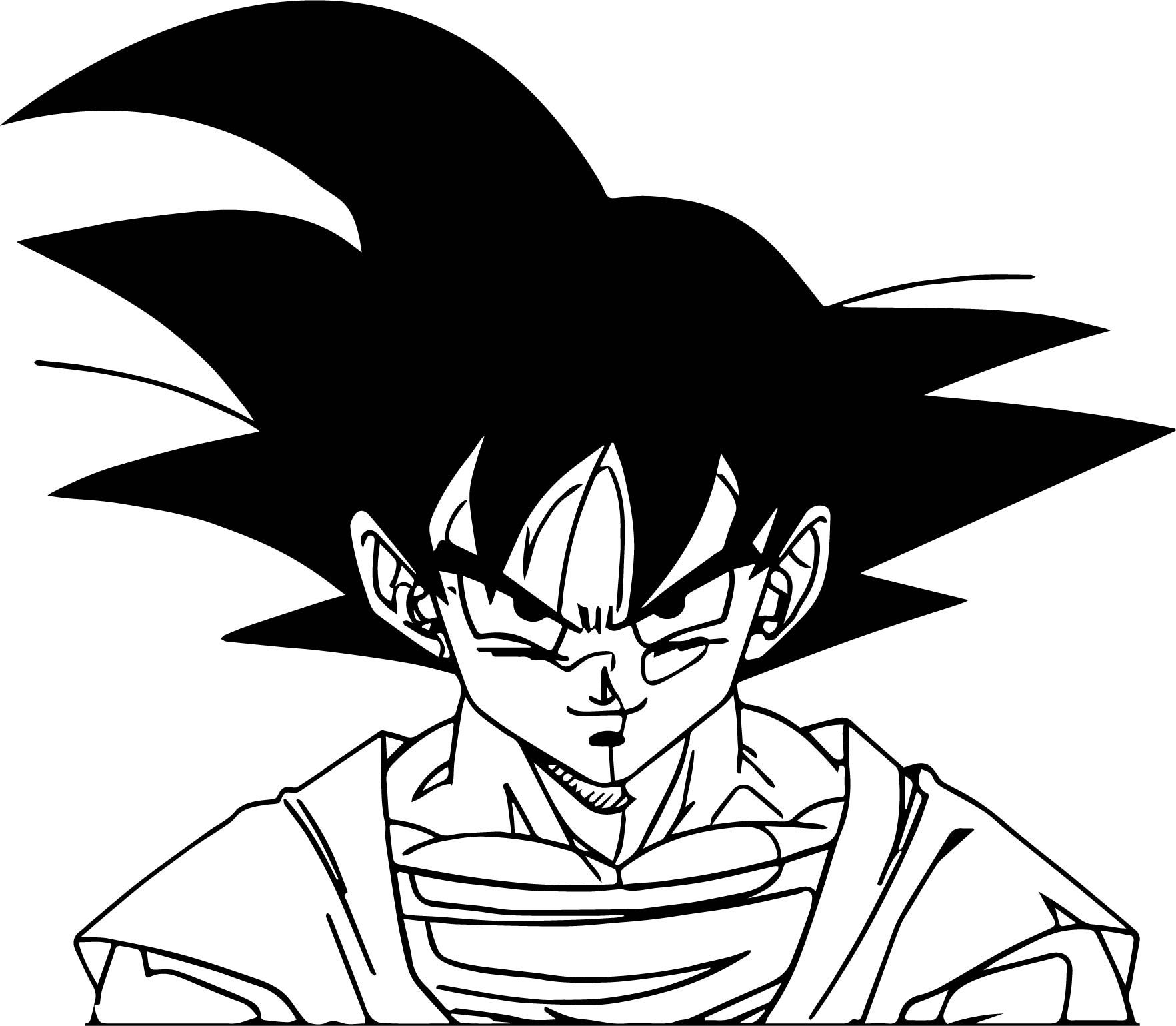 Goku face coloring pages