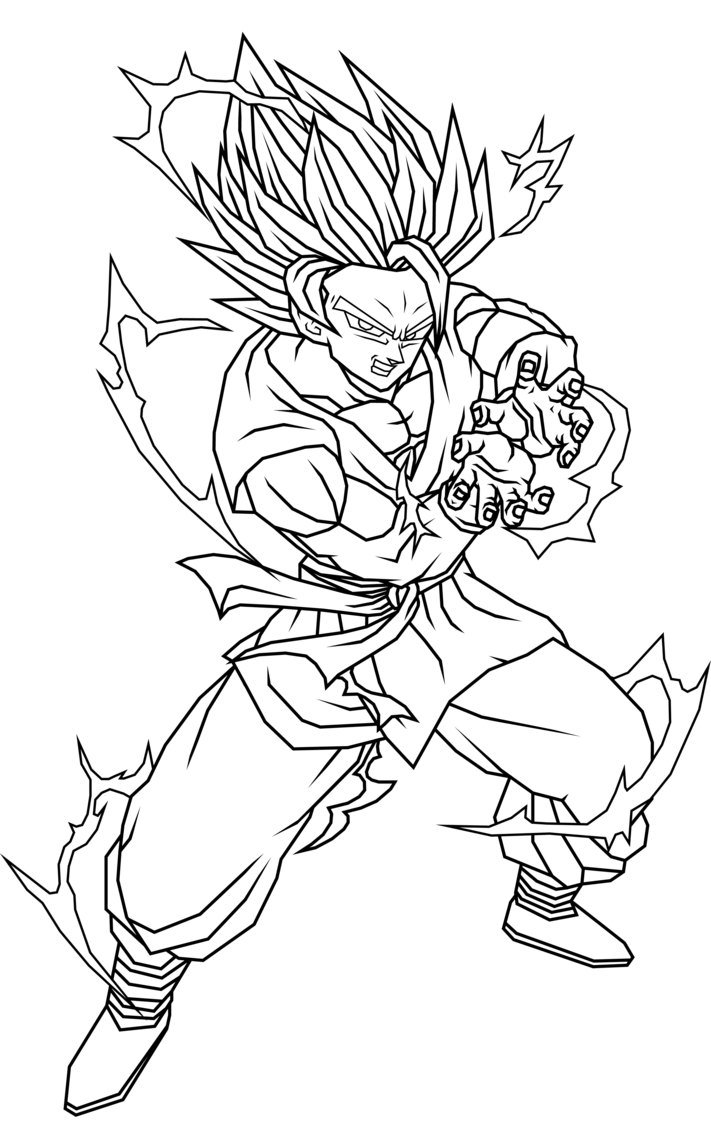goku face coloring pages the best free ssj drawing images download from 167 free pages face goku coloring